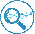 Icon Vorrauschauende Analysen mit Cloud ERP